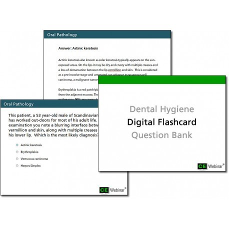 Dental Hygiene Digital Flashcard Question Bank